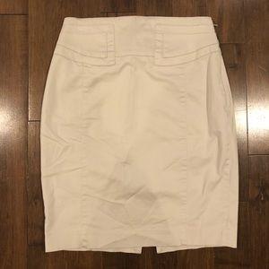 Women's Express Khaki Pencil Skirt Size 2 (L)